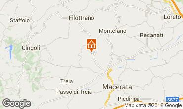 Kaart Macerata Vakantiehuis 17670