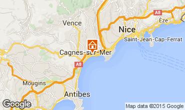 Kaart Cagnes sur Mer Studio 98565