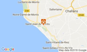 Kaart Saint Jean de Monts Stacaravan 115158
