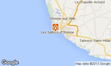 Kaart Les  Sables d'Olonne Appartement 70662