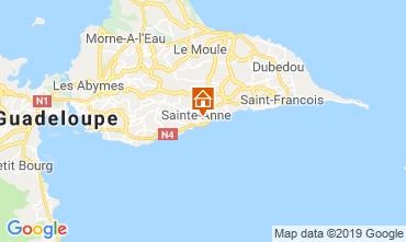 Kaart Sainte Anne(Guadeloupe) Bungalow 118496