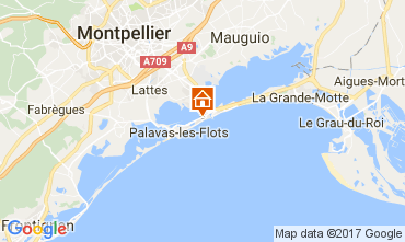 Kaart Palavas-les-Flots Villa 110505