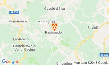 Kaart Radicondoli Huis 117378