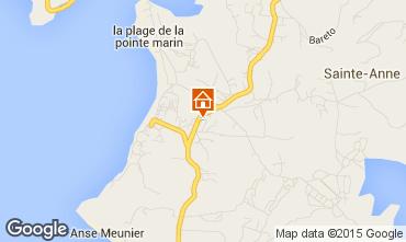 Kaart Sainte Anne (Martinique) Villa 8123