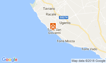 Kaart Ugento - Torre San Giovanni Appartement 94486