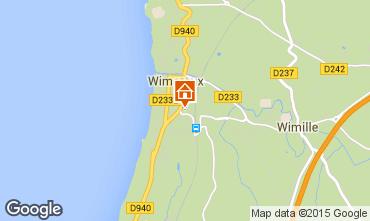 Kaart Wimereux Villa 8908
