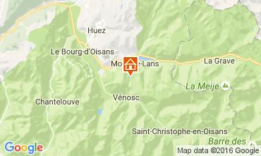 Kaart Les 2 Alpes Appartement 106994
