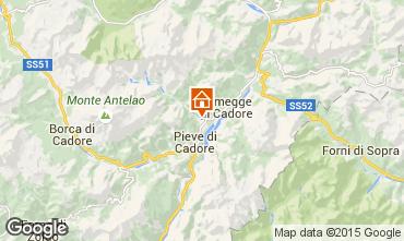 Kaart Cortina d'Ampezzo Appartement 40563