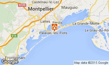 Kaart Palavas-les-Flots Appartement 83188