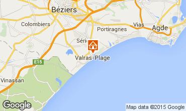 Kaart Valras-Plage (strand) Appartement 69389