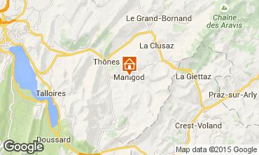 Kaart Manigod-Croix Fry/L'étale-Merdassier Appartement 1567