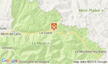 Kaart La Grave - La Meije Huis 4763