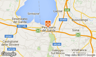 Kaart Peschiera del Garda Appartement 69648