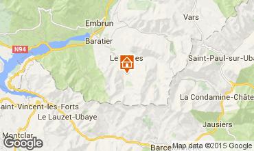 Kaart Les Orres Studio 2096