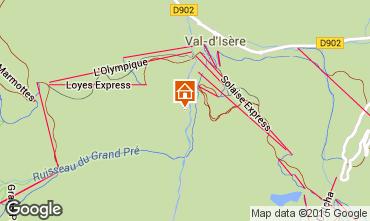 Kaart Val d'Isère Appartement 3347