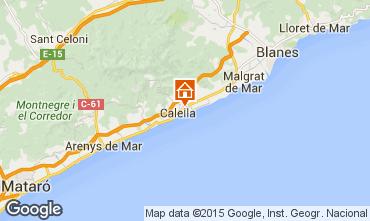 Kaart Calella de Mar Appartement 8169
