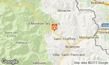 Kaart Serre Chevalier Chalet 2855
