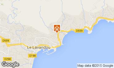 Kaart Le Lavandou Appartement 48959