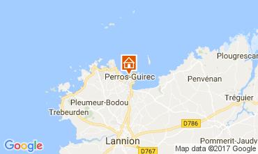 Kaart Perros-Guirec Appartement 106712