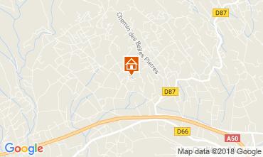 Kaart La Cadière d'Azur Villa 113830