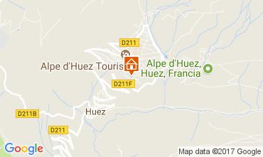 Kaart Alpe d'Huez Appartement 112014