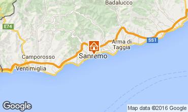Kaart Sanremo Appartement 64571