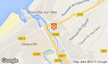 Kaart Trouville sur Mer Studio 25063