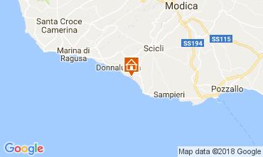 Kaart Donnalucata Villa 112801