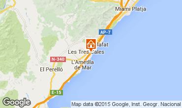 Kaart La Ametlla de Mar Chalet 77819