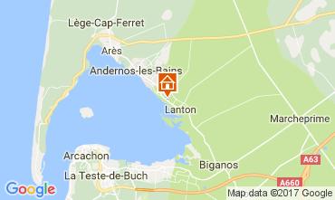 Kaart Andernos les Bains Vakantiehuis 103208