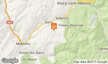 Kaart La Plagne Chalet 2154