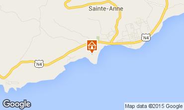 Kaart Sainte Anne(Guadeloupe) Bungalow 8023