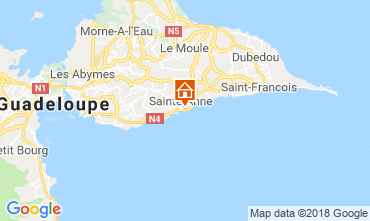 Kaart Sainte Anne(Guadeloupe) Appartement 116656