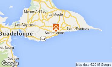 Kaart Sainte Anne(Guadeloupe) Vakantiehuis 54345