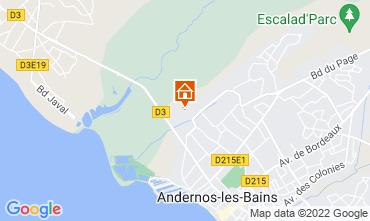 Kaart Andernos les Bains Vakantiehuis 81528