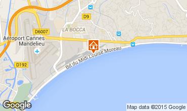 Kaart Cannes Appartement 30867