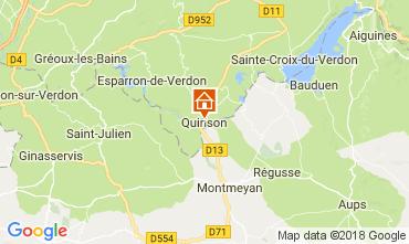Kaart Sainte-Croix-du-Verdon Appartement 65232