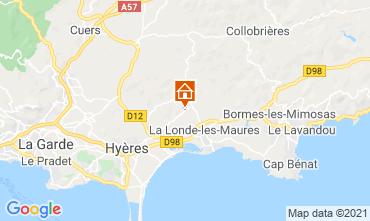 Kaart Bormes Les Mimosas Villa 51988