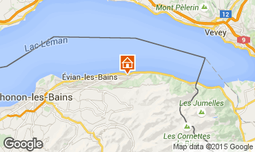 Kaart Evian les Bains Huis 98117