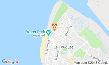Kaart Le Touquet Studio 117441