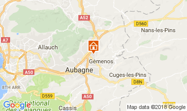 Kaart Aubagne Bungalow 112975