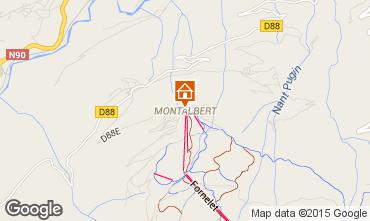 Kaart La Plagne Chalet 27113