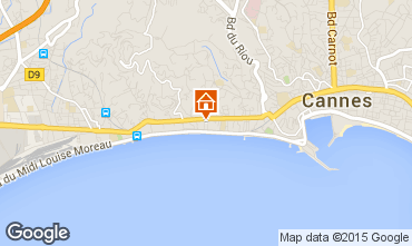 Kaart Cannes Appartement 44413