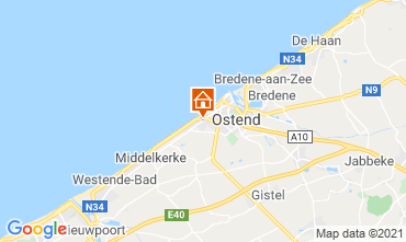 Kaart Oostende Bed & breakfast 72510