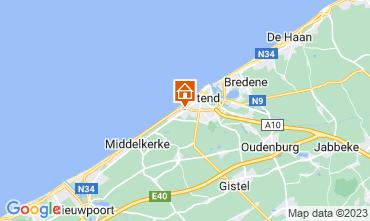 Kaart Oostende Bed & breakfast 72510