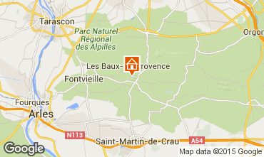 Kaart Maussane les Alpilles Villa 83537