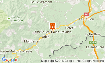 Kaart Amélie-Les-Bains Appartement 103544