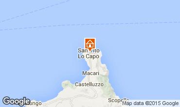 Kaart San Vito lo Capo Appartement 83160