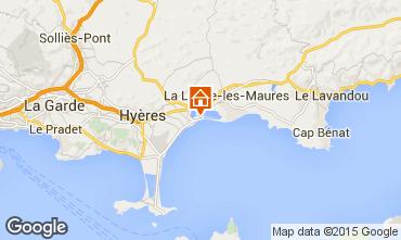 Kaart Hyères Appartement 5831