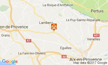 Kaart Aix en Provence Villa 108314
